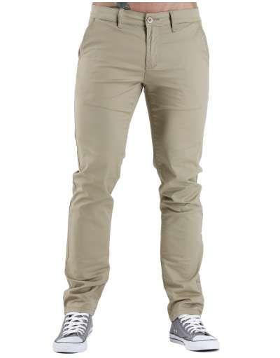 ΝEEΣ ΑΦΙΞΕΙΣ :: Παντελόνι Chino Fit & Slim Beige - OEM