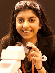 WOMEN ROCKING SCIENCE...Women Making Headlines: If 16 is sweet, than 17 is sublime for Kirtana Vallabhaeneni, who was recently named the UK's top young scientist. See how this inspirational teen beat 360 other entrants for the prestigious title in this BBC News feature.