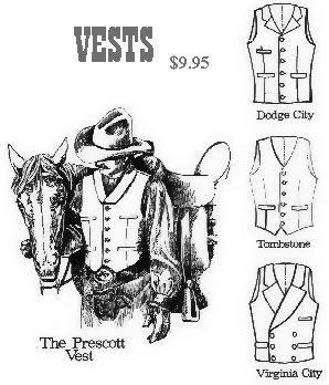 Men's Western Vest Patterns