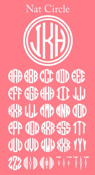 Good to know for crafting.: Monograms Letters, Monograms Fonts, Monograms Paintings, Crafts Projects, Diy Monograms, Circles Monograms, Monograms Stencil, Monograms Everything, Paintings Monograms