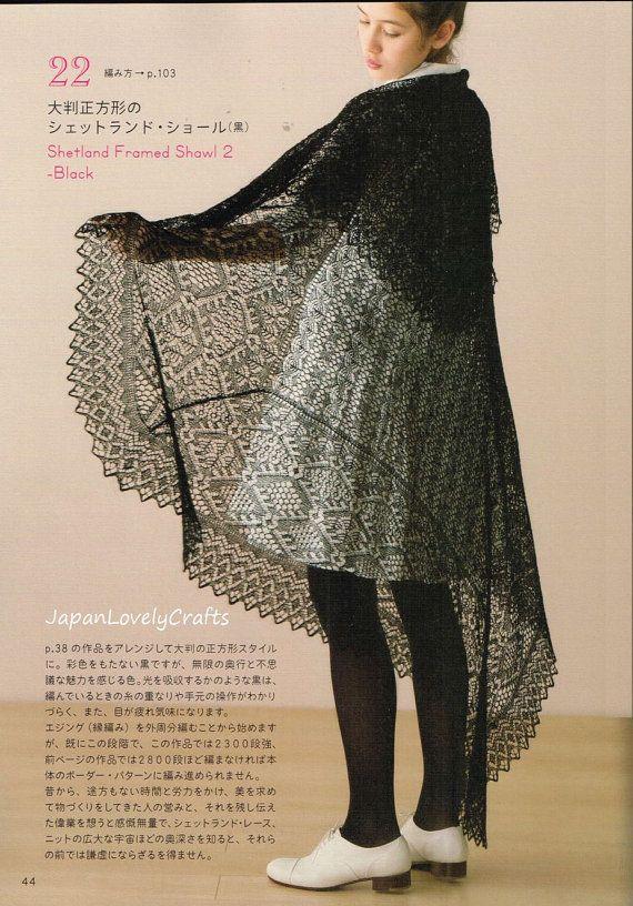 Shetland Lace Knitting - Toshiyuki Shimada, Japanese Knit Pattern Book for Wo...