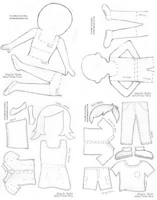 How to make flat dolls