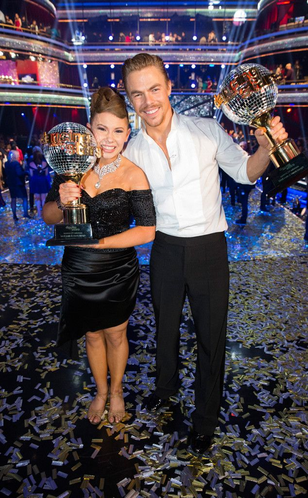 Bindi Irwin & Derek Hough from The Big Picture: Today's Hot Pics  The 17-year-old daughter of the late Steve Irwin is crowned the champion of the 21st season of Dancing With the Stars alongside her pro partner.