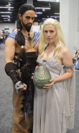 Khal Drogo \u0026 Daenerys Targaryen from Game of Thrones Couples Costume Idea  Couples Halloween Costume Ideas