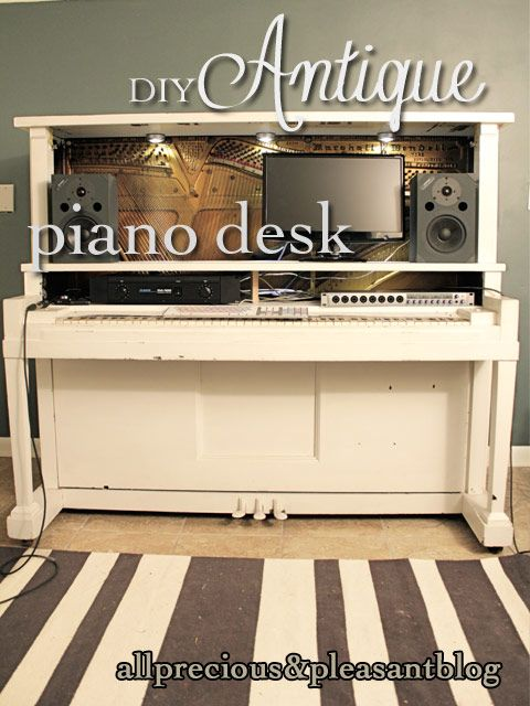 diy piano desk piano desks piano bar piano upcycling repurpose piano ...