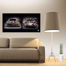 BMW ART CAR Jeff Koons Large Poster 24x48 inch Front/Back HIGH QUALITY NEW