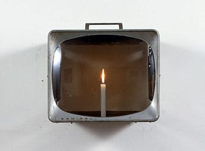 """Candle TV"", 1980, Nam June Paik"
