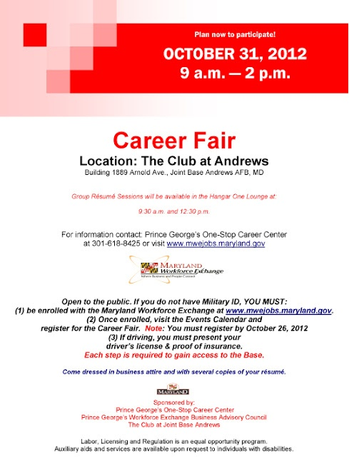 Career Fair October 31 2012 Joint Base Andrews Afb Md Www
