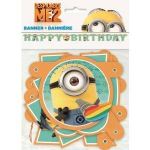 Minions Kids Birthday Banner (1ct) @ niftywarehouse.com #NiftyWarehouse #Minions #DespicableMe #Minion #Movie #Movies #Kids