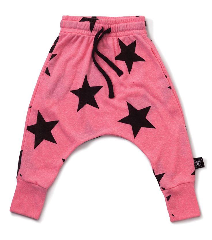 Nununu Star Baggy Pants Pink
