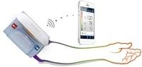 Sfigmomanometro iHealth wireless da braccio BP5. misuratore di pressione da braccio con bracciale completamente automatico che misura la pressione sanguigna e il battito cardiaco direttamente dal tablet o dallo smartphone. Il misuratore registra la pressione sistolica/diastolica, frequenza cardiaca e l'impulso d'onda per più utilizzatori e con memoria illimitata. Compatibile con le piattaforme Apple e Android.