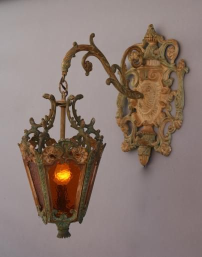 Ornate Cast Iron Italianate Lantern Antique Outdoor Lighting Antique And Spanish Revival