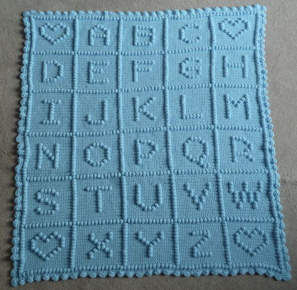 CrochetAllDay : PICTURE ABC #Crochet #Baby #Blanket DONE! @Ravelry ...