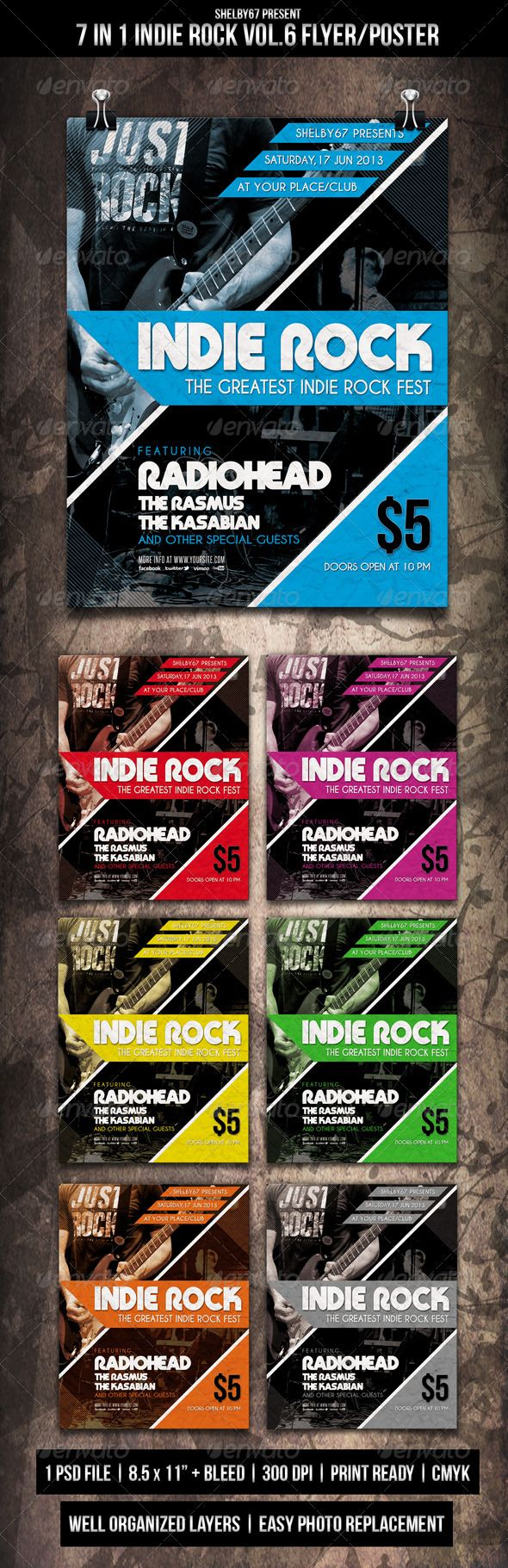 Indie Rock Flyer / Poster Vol.6