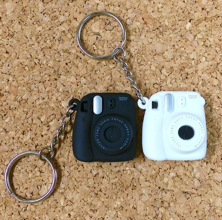 Fujifilm Instax Mini 8 Camera Keychain Small Key Chains Accessories by MaterialDream on Etsy https://www.etsy.com/listing/220642873/fujifilm-instax-mini-8-camera-keychain