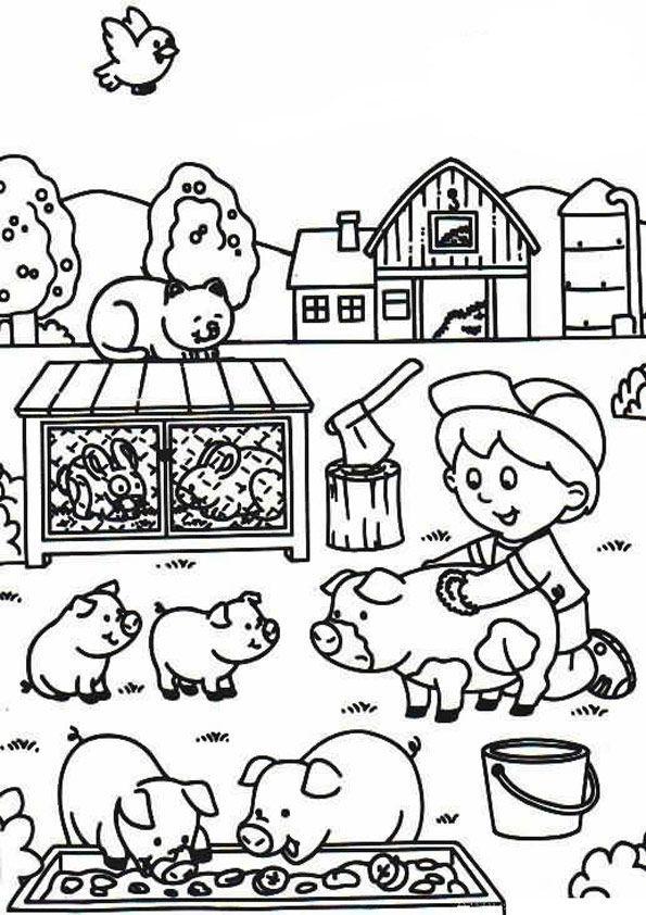 Bauernhof Kostenlose Ausmalbilder Zeichnung Ausmalbilder Malvorlagen Ausmalen