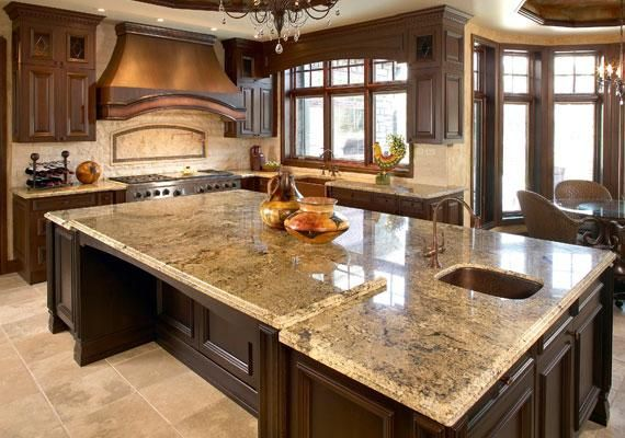 Cabinet color and granite look fab together!!
