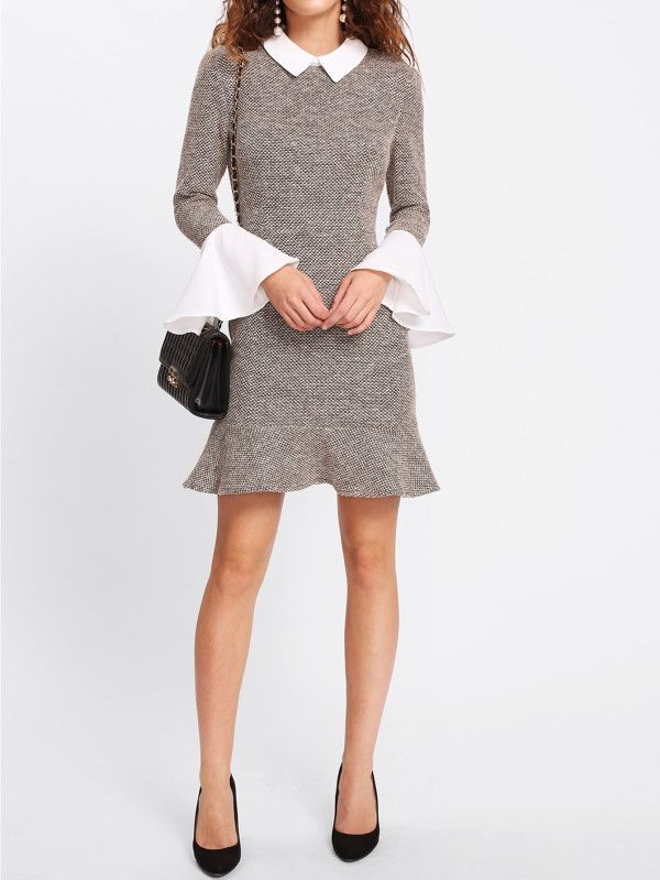 http://us.shein.com/Contrast-Collar-And-Ruffle-Cuff-Tweed-Dress-p-406498-cat-1727.html
