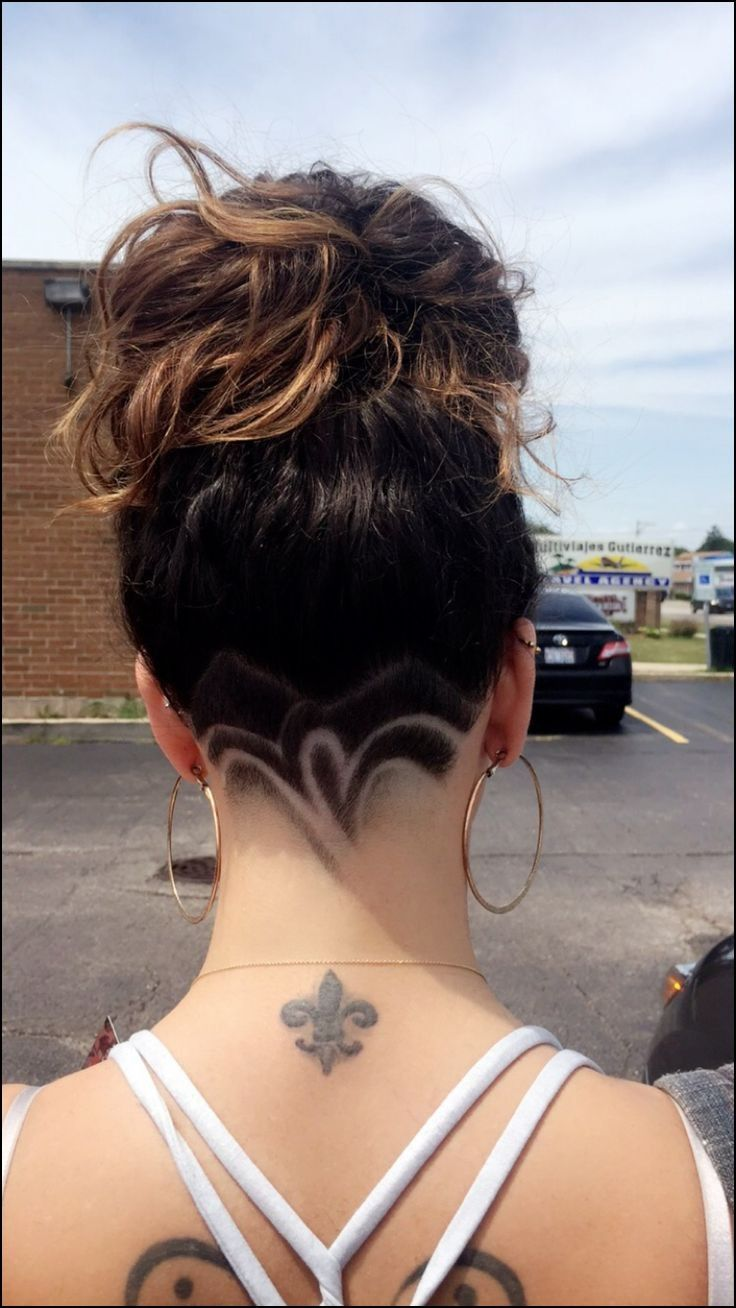 pin on shaved hair girl