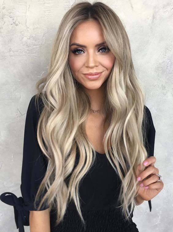 34 Gorgeous Blonde with Brown Highlights in 2018,  #Blonde #blondeHairExtensions #Brown #gorg…