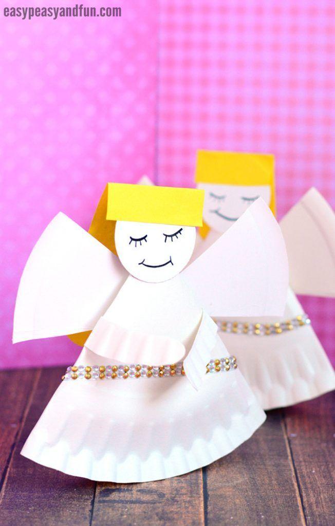 Kids Crafts Easy Church Rocking Paper Plate Angel Kidscrafts