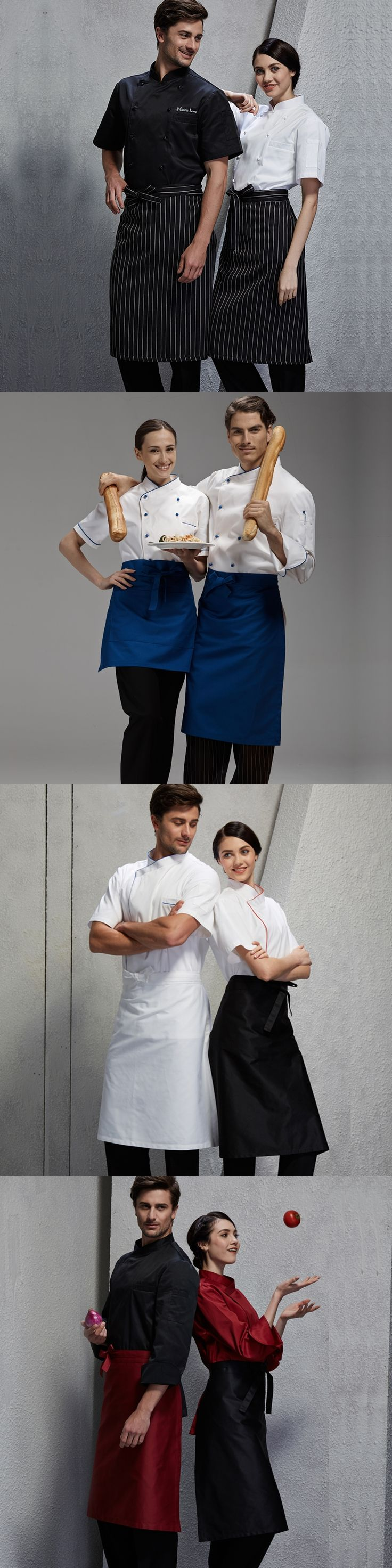 Chef Aprons Men & Women Restaurant Restaurant Hotels in the Wai Wai Kitchen Half Skirts Catering Work Aprons apron