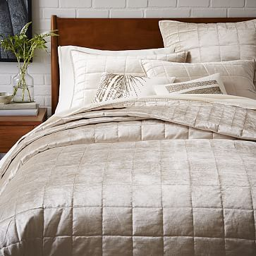 Just showing you anothe option -- but my email was about the VW quilt and the WElm duvet not this....Washed Luster Velvet Quilt  + Shams #westelm