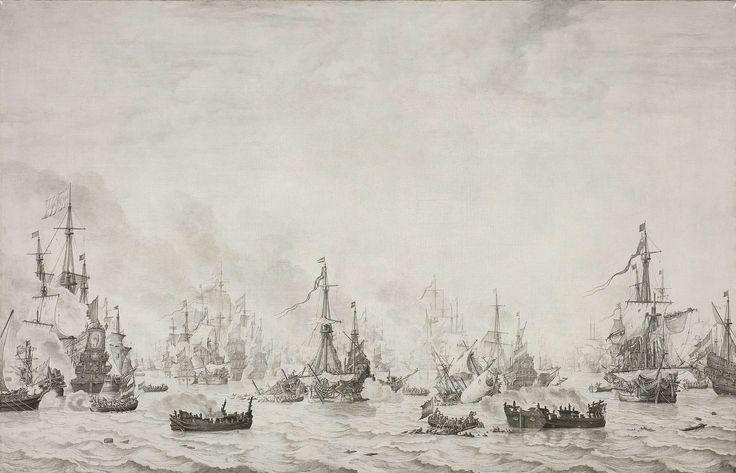 The Battle of the Downs (Willem van de Velde (I), 1659, Rijksmuseum, Amsterdam)