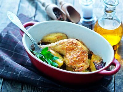 Radiant Rotisserie Chicken With Potatoes
