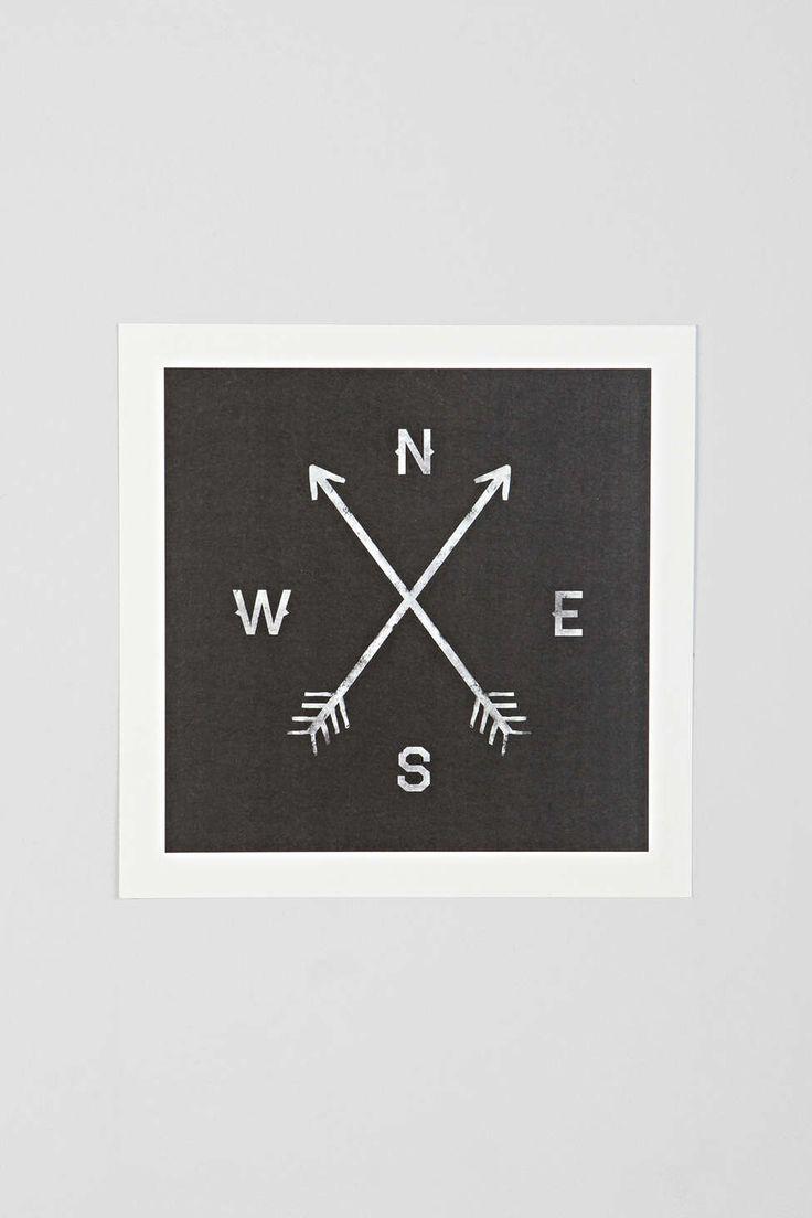 Zach Terrell Compass Art Print