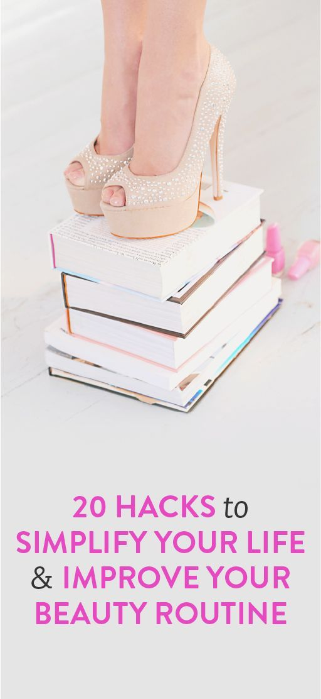 20 hacks to simplify your life // via @bustledotcom