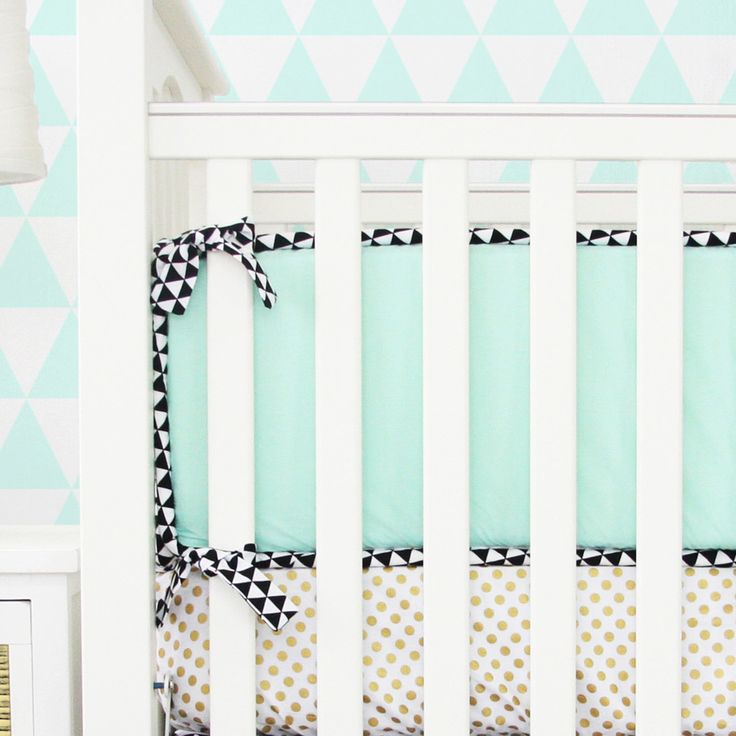 Caden Lane Baby Bedding - Bumpers - Eclectic Mint, $126.00…