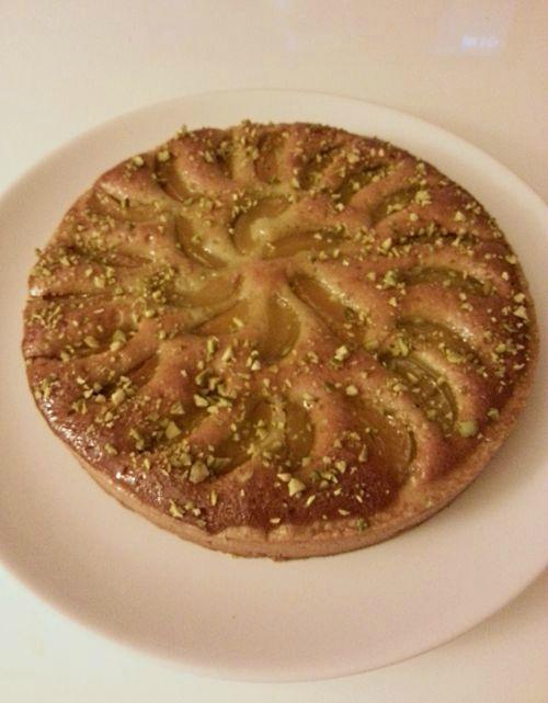 Tarte abricot et crème d'amande + variation pistache
