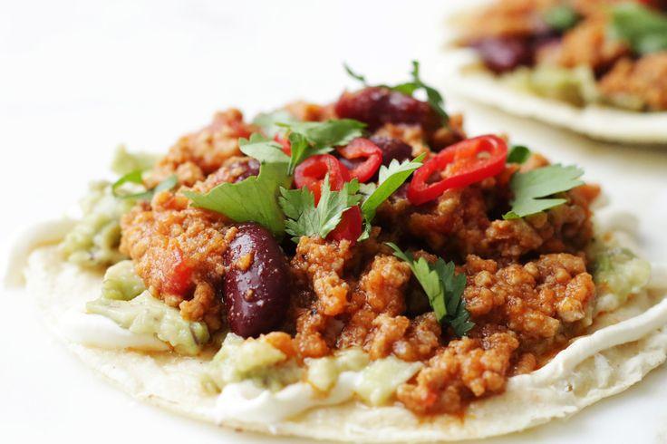 On soft tacos
