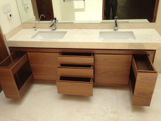 Las 25 mejores ideas sobre gabinetes de ba o en pinterest for Gabinetes de bano en madera