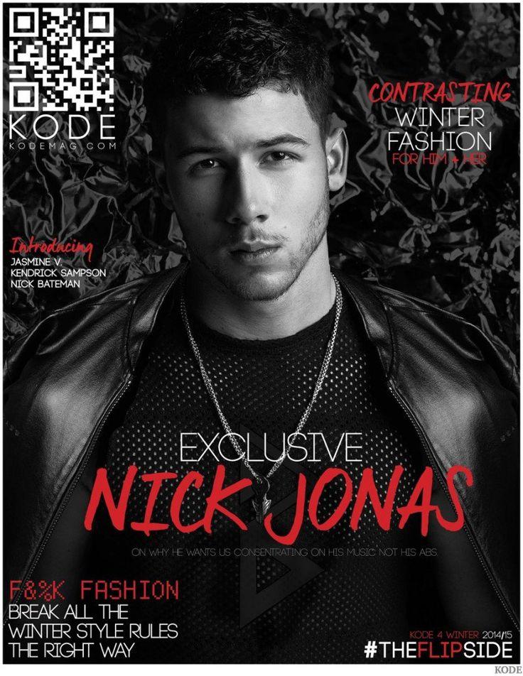 Nick Jonas Models Black Wardrobe for Kode Cover Shoot image Nick Jonas 2014 Kode