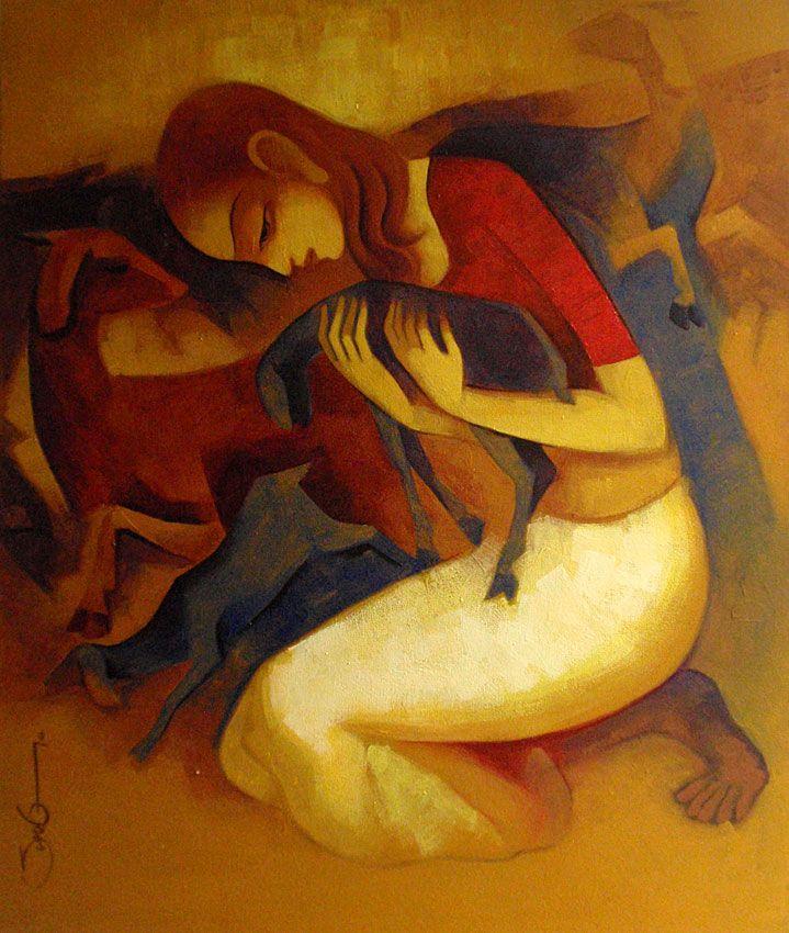 Sunil Shelke | Paintings by Sunil Shelke | Sunil Shelke Painting - SuchitrraArts.com