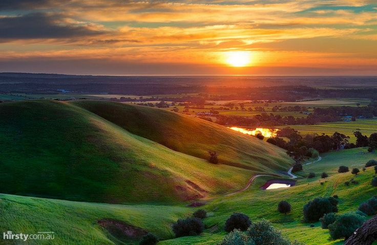 Sunset in the Barossa wine country.