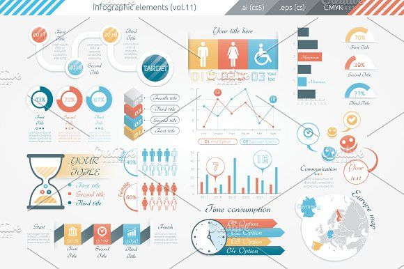 @newkoko2020 Infographic Elements (v11) by Infographic Paradise on @creativemarket #infographic #infographics #bundle #download #design #template #set #presentation #vector #buy #graph #discount