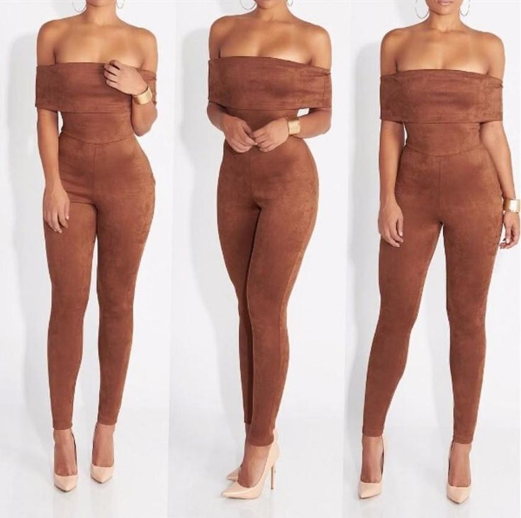 Iconic Velvet Brown Jumpsuit