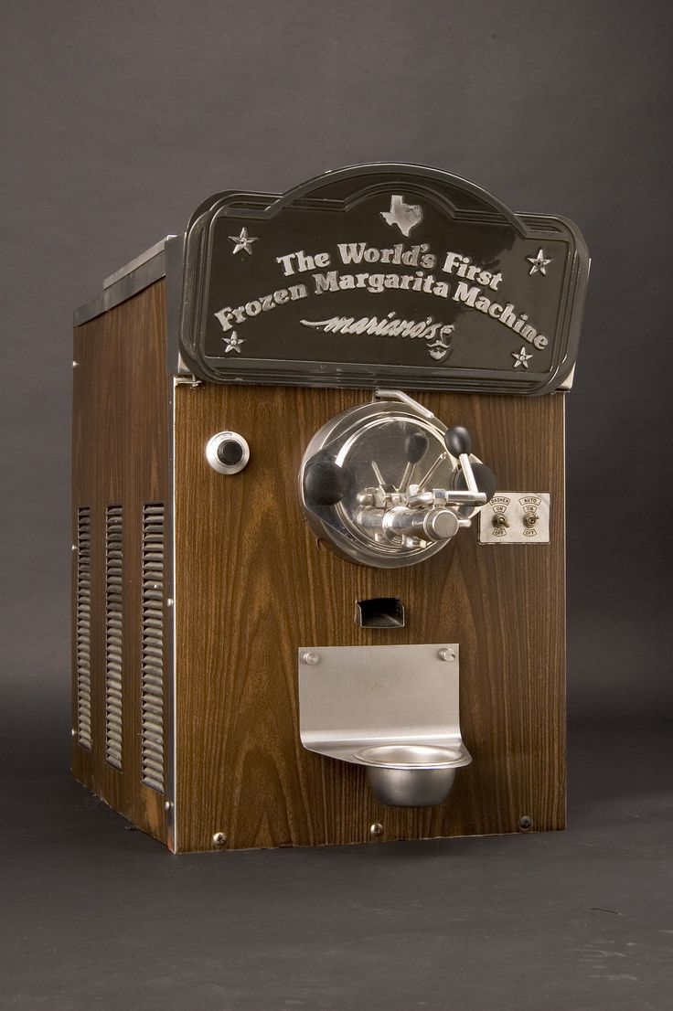 The World's First Frozen Margarita Machine - Created in 1971 by Mexican American inventor Mariano Martinez in Dallas. Martinez adapted a soft serve ice cream machine maker to make margaritas. Today, the machine sit in the National Museum of the American History, part of the Smithsonian Institute.