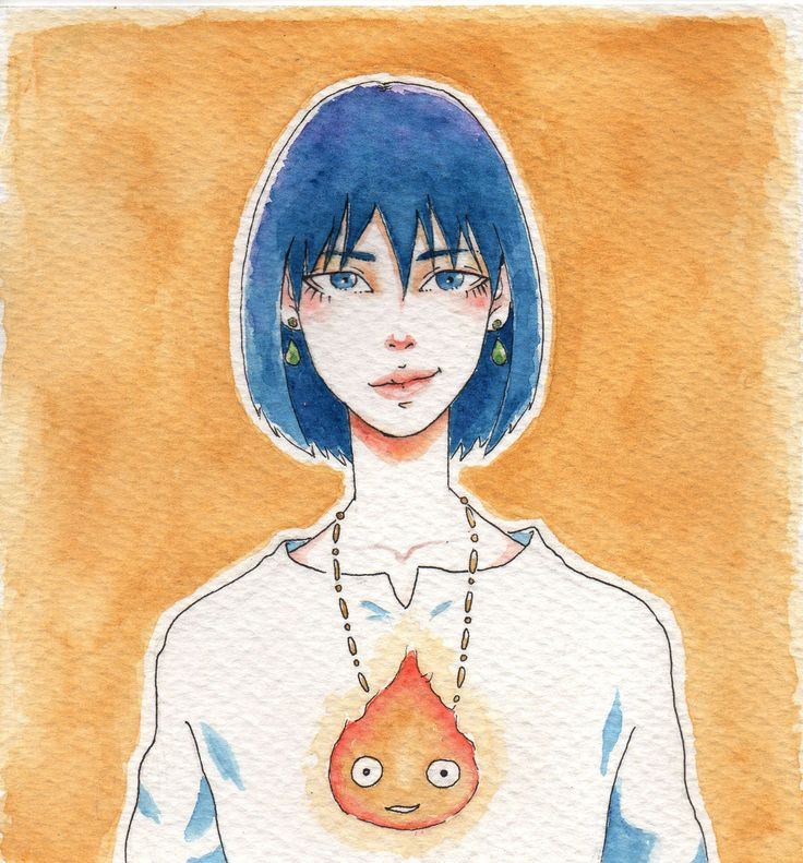 Howl in watercolor by Doko  #draw #illustration #howl