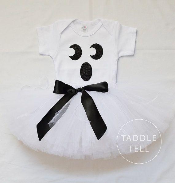 Ghost Halloween Costume Tutu Includes Tutu & by taddletellshop