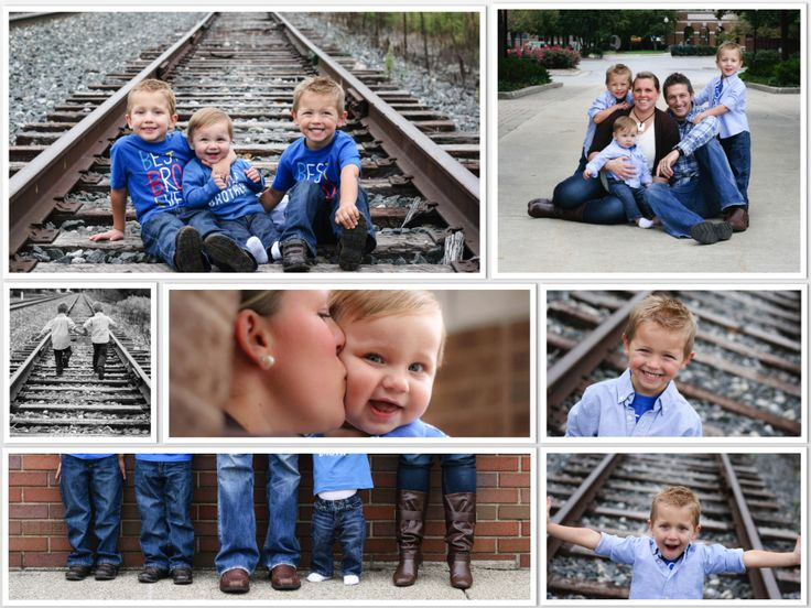 Great family pictures, love the train tracks for boys!