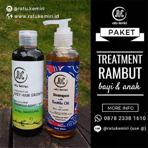 Solusi untuk para orang tua. Vitamin untuk menyuburkan rambut bayi secara alami. Ratu Kemiri original, tanpa SLS, dan tanpa deterjen kimia.