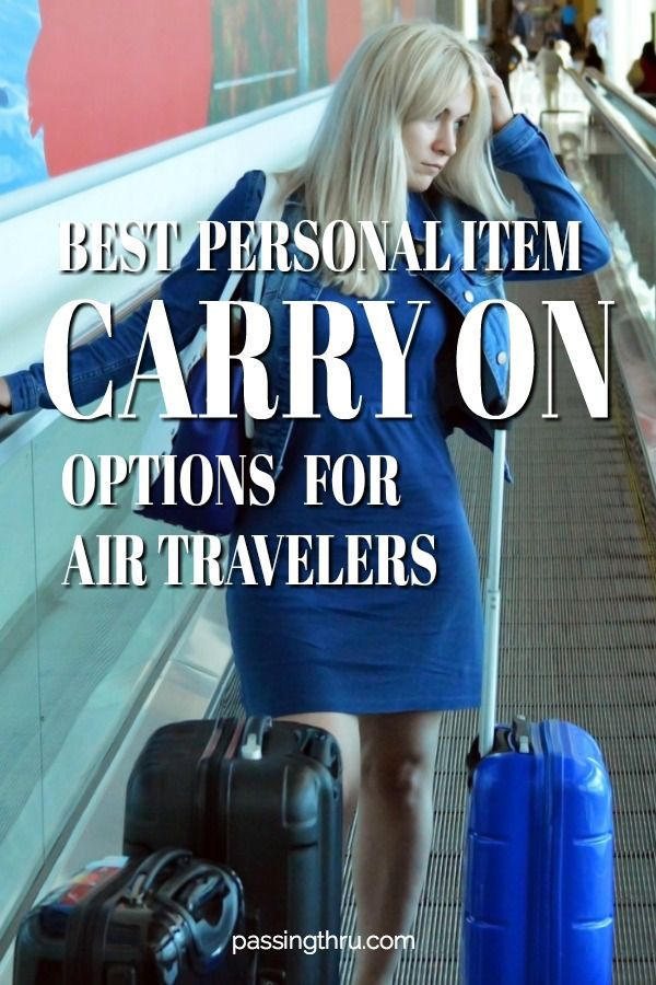 "Best ""personal item"" carry on #luggage for today's air #travel."
