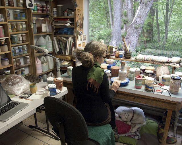 Jenny Mendes studio view
