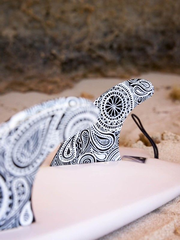 Surfboard fins – Black and White Mandala – by Finatics ~ RRP $95. Make your…