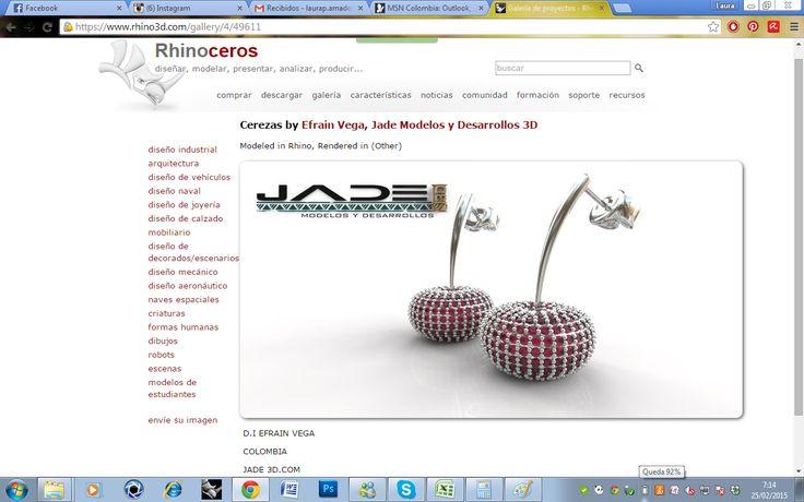 Nos encontramos en la galería de www.rhino3d.com  Diseño de joyería