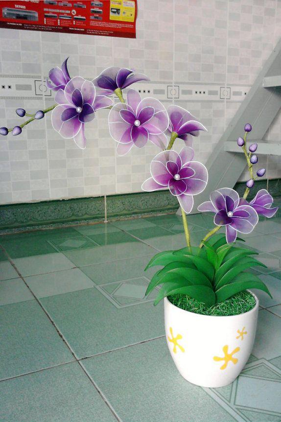 Hoa vải voan   Hoa giả, hoa đất sét
